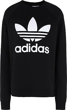 adidas Originals TRF CREW SWEAT Zwart Gratis levering