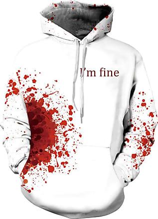 EUDOLAH Mens Long Sleeve Sweatshirts Neon Printed Hoodies 3D Graphic Jumpers Animal Sportswear (Tag 2XL/3XL, 316Im fine-d)