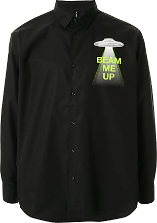 Blackbarrett Camisa de algodão com estampa gráfica - Preto