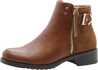 Saute Styles Womens Flat Block Heels Chelsea School Ankle Boots Size 3