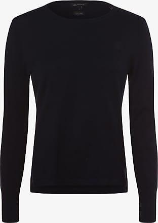 A|X Armani Exchange Damen Pullover mit Cashmere-Anteil blau