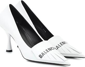 Balenciaga Knife fringed leather pumps