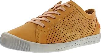 Softinos Womens ICA Lace-Up Loose Lace Up Shoes Orange Size: 8.5 UK