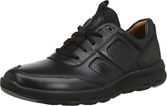Rockport Lets Walk Mens Ubal Trainers, Black (Black Leather 001), 12.5 UK (47.5 EU)