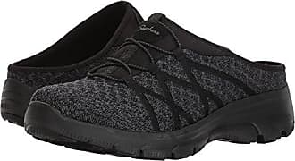 Skechers Womens KNITTY Gritty-Knit Bungee Version of The Easy Going-Repute Mule, Black, 5.5 M US