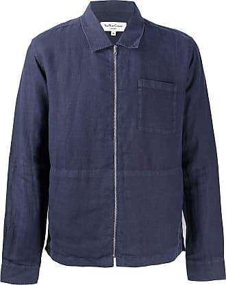 Ymc You Must Create Camisa Bowie de linho com zíper - Azul