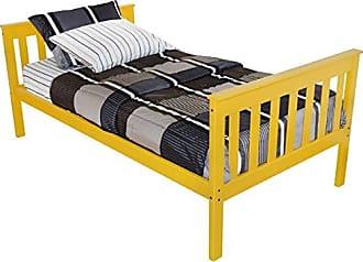 A & L Furniture A & L Furniture 3100CP Slat Mission Bed, Twin, Canary