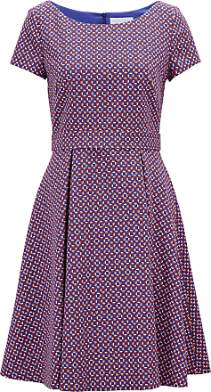 BOSS Hugo Boss Wide-neck dress in colorful geometric pattern 0 Patterned