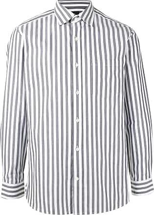 Kent & Curwen striped long sleeve shirt - White
