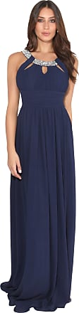 Krisp Women Maxi Dress Ladies Formal Evening Party Cocktail Gown (Navy, 20), 3577-NVY-20