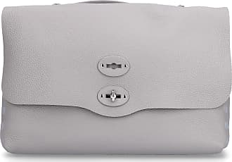 Zanellato Handbag POSTINA leather embossed logo grey