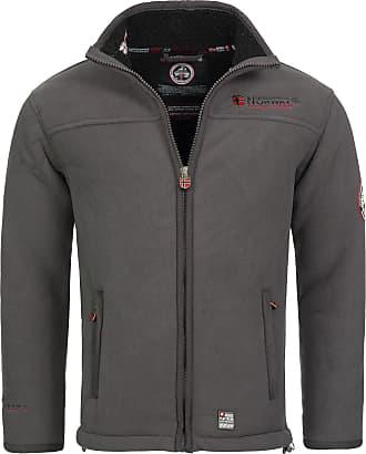 Geographical Norway Ureka Mens Fleece Jacket, Warm, Teddy Fur Lining, Size S - XXXL. - Grey - X-Large