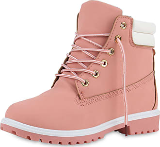 Scarpe Vita Women Bootee Worker Boots Tread Sole Quilted 149005 Pink UK 5.5 EU 39