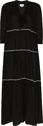Honorine Vestido longo Giselle com amarração - Preto
