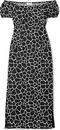 379d0e95e49 Caroline Constas Calla Off-the-shoulder Printed Cotton-blend Poplin Midi  Dress -