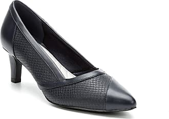 Easy Street Easy Street Womens Serendipity Leather Pointed Toe, Black Snake, Size 9.0 US / 7 UK US