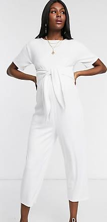 Asos Maternity ASOS DESIGN Maternity lounge jumpsuit-Cream