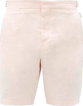 Orlebar Brown Norwich Linen Shorts - Mens - Pink