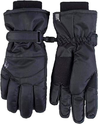 Heat Holders MENS Heat Holders Heatweaver Thermal Warm Winter High Performance Waterproof and Windproof SKI Gloves TOG 6.8 Black (L/XL)