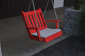 A & L Furniture A & L Furniture Poly Traditional English Chair Swing, Bright Red