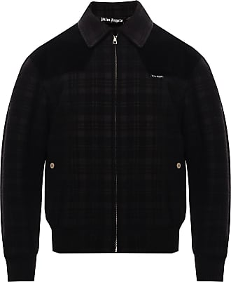 Palm Angels Wool Jacket With Logo Mens Black