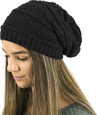 TOSKATOK Ladies Knit Slouch Winter Hat/Beanie Black
