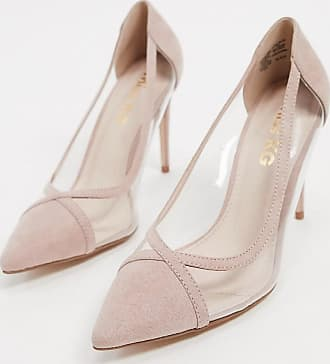 Kurt Geiger cress pointed high heels in beige with clear