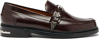Toga Archives Engraved-buckle Leather Loafers - Mens - Burgundy