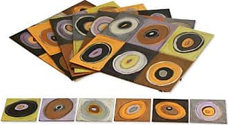 Novica Earthtone Wood Vision (Set for 6) Placemats and Coasters