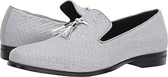 Stacy Adams Swank Tassel Glitter Slip-On (Silver) Mens Shoes