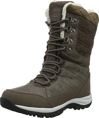 Hi-Tec Womens Riva WP High Rise Hiking Boots, Brown (Dk Brown/Beige/Black 42), 3.5 (36 EU)