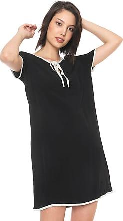 Enna Vestido Enna Curto Amarração Preto/Branco