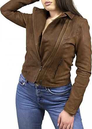 Leather Trend Italy Chiodo Martina - Giacca Donna in Vera Pelle colore Cuoio Antichizzato