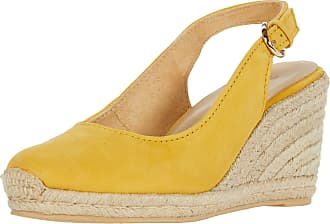 Naturalizer womens Pearl Espadrilles Yellow Size: 6.5 Wide