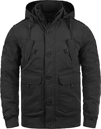 Solid Davio Mens Winter Jacket Outdoor Jacket with Hood, Size:M, Colour:Black (9000)