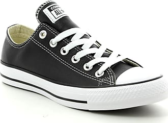 446b6c44168 Converse 132174c Allstar Ox Leather Black Leather Mens Trainers