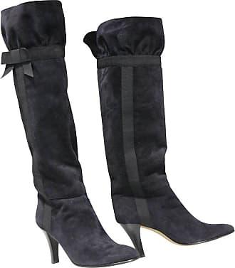 c2c2189e1bf Saint Laurent 1970s Yves Saint Laurent Black Suede Boots W  Bow Ribbon  Details
