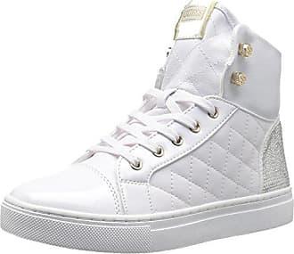 Guess Womens Janis4 Sneaker, White, 9.5 Medium US