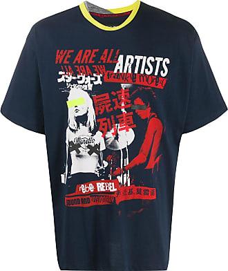 Frankie Morello Camiseta com estampa gráfica - Azul