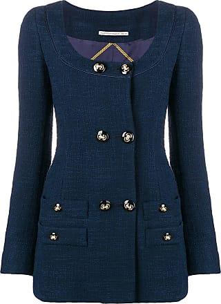 Alessandra Rich double breasted blazer dress - Blue