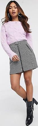 Hollister dogtooth mini skirt-Multi