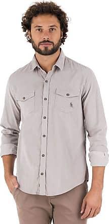 SideWalk Camisa Veludo - Cinza Claro - Tamanho P