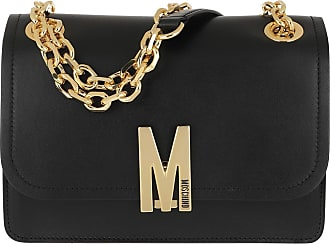 Moschino Cross Body Bags - Leather Shoulder Bag Chain Black Fantasy Print - black - Cross Body Bags for ladies