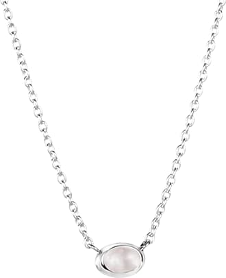 Efva Attling Love Bead Necklace Silver - Rose Quartz Necklaces