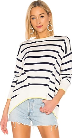 Splendid Avery Stripe Cashmere Blend Sweater in White