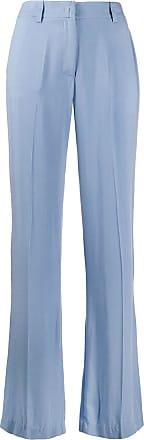 Hebe Studio Calça reta cintura média - Azul