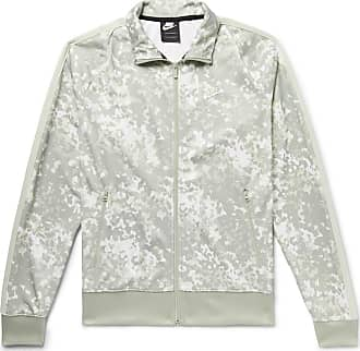75cda27c660 Nike Sportswear Webbing-trimmed Camouflage-print Tech-jersey Track Jacket -  Gray green