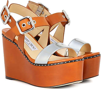 765fd636017c Jimmy Choo London Alton 100 leather platform sandals