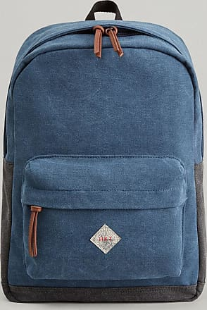 HKT Mens Explorer Cotton Canvas Backpack | Light Blue