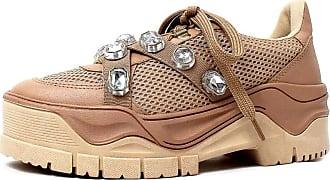 Damannu Shoes Tênis Pedraria Lilian Nude - Cor: Nude - Tamanho: 35